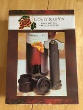 New listing Wine Bottle Vacuum Sealer - L'Objet & Le Bin
