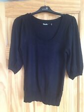 Black Short Bubble Bell Sleeve Top, From Brave Soul, Size 10