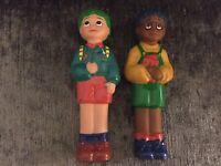 "1993 Ragdoll Productions TOTS TV. Tiny & Tom Plastic Figure Vintage 5.5"""