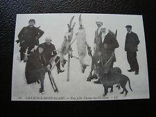 FRANCE - carte (reproduction) (chamonix-mont-blanc , chasse au chamois) (cy68)