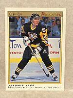1990-91 O-Pee-Chee Premier #50 Jaromir Jagr Pittsburgh Penguins RC Rookie Card