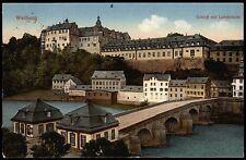 WEILBURG Schloss mit Lahnbrücke - schöne col.-AK gel. 1926