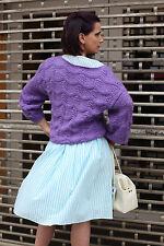 Oversize Pullover Strickpullover sweater Lila 90s True Vintage 90er handmade