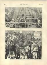 1871 Small Change Scarce Paris Wreck Bonchurch Underley Divers Old Print