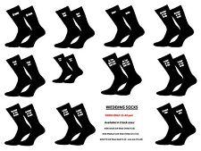 Calcetines de boda para hombre negro en varios página de título I.E Chico, novio y Usher-GL
