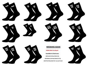 Mens Wedding Black Socks in Various Title i.e Page Boy, Groom and Usher - GL