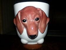DACHSHUND Dog Porcelain Coffee Mug Cup Ceramic Figurine Quality By DNC Arcadia