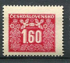 TCHECOSLOVAQUIE - 1946-48, timbre TAXE 73, FLEURS, OISEAUX, neuf**