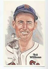 Beautiful TED WILLIAMS Unsigned Perez Steele Post Card !!