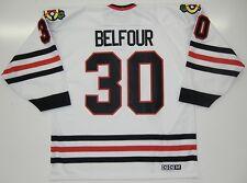 ED BELFOUR CHICAGO BLACKHAWKS CCM JERSEY