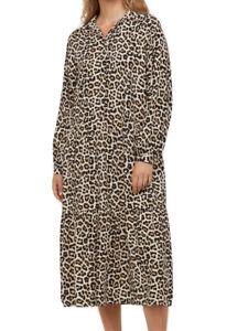 H&M Leopard MIDI Shirt Dress - Worn Once - Size M - A/W 20 Bloggers Fav