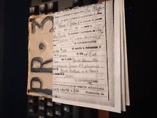 libretto documenti VESPA  150  + VISURA PARMA 1957