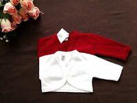 FREE Post Baby Flower girls Bridesmaid bolero jacket shrug cardigan NB-18M W/P/R