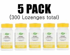 Nature's Way, Zinc Lozenges, 5 PACK, Wild Berry Flavored, 60 Vegan Lozenges