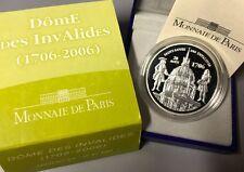 France 2006 Dome Des Invalides 1,5 euro Silver Proof Francia 1/2 € plata silber