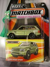2017 Best of Matchbox RANGE ROVER SPORT☆Lime-Green;brown;rubber tires☆Land Rover