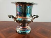 Vintage Oneida USA Silverplate Wine Champagne Cooler Ice Bucket Decor GUC