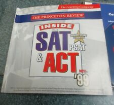 Princeton Review INSIDE SAT PSAT & ACT 99 PC (2)CD ROM college test practice
