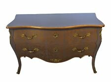 French Louis XV Commode Chest of Drawers - Mauve with Gold Decorations