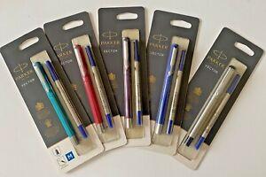 Parker Vector Rollerball Pen Medium Nib Blue Purple Silver Teal & Red