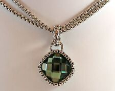 SALE NEW Designer Inspired Facetted Emerald colour Crystal Pendant