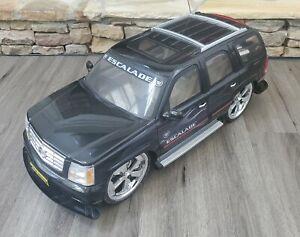 New Bright - RC 1/6 Scale - Black Cadillac Escalade w/ Spinner Rims - NO CONTROL