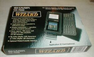 NEW Vintage SHARP OZ-7000 Electronic PDA Organizer Wizard in Box with VHS Guide