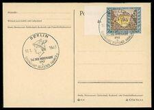 """3. REICH FDC 828 TAG DER BRIEFMARKE 1943 """"BERLIN"""" POSTKUTSCHE HERMES cm92"""