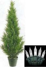 3' ARTIFICIAL IN OUTDOOR CEDAR TREE EVERGREEN POOL PATIO WITHCHRISTMAS LIGHTS