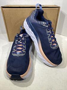 Hoka One One Bondi 6 Women's Size 10 W  Indigo/Dusty Pink Running Shoes X7-804