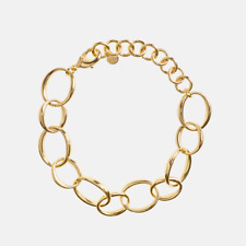 New! $195 Rachel Zoe Box of Style BAYOU WITH LOVE Oval Chain Bracelet Spring '20