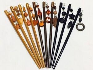 2 * Hair Pin Chopsticks Pins Chop Sticks Womens Girls Hair Chignon Style Tools
