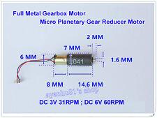 DC 3-6V Mini Full Metal Gearbox Motor Planetary Gear Reducer Motor for Robot DIY