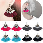 Crystal Rhinestone Tassel Drop Dangle Ear Stud Earrings Women Jewelry Fashion GT