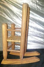 Primitive Wood Doll Size High Back Rocking Chair ~ Doll  Bear *Square Nails*