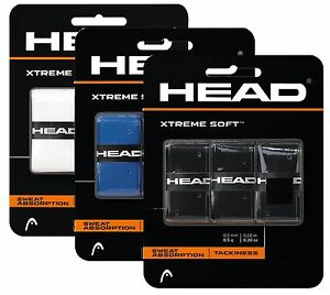 HEAD Xtreme Soft Tennis Racket Overgrips - Pack of 3 - Squash Badminton
