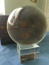 Clear Natural Quartz Magic Crystal Healing Ball Sphere 120mm  crystal cube Stand