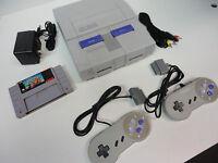Super Mario Kart--Super Nintendo SNES + 2 Controllers Console Video Game System