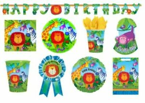 JUNGLE ANIMALS Birthday PARTY NEW Tableware Balloons Decorations Supplies