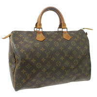 LOUIS VUITTON SPEEDY 35 HAND BAG MONOGRAM CANVAS LEATHER VI874 M41524 33138