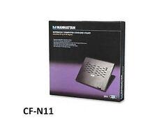 Notebook Computer Cooling Stand w/ Adjustable Tilt, Manhattan 439268, CF-N1