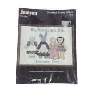 Janlynn Counted Cross Stitch Kit My Family and Me 1987 Vintage Craft New
