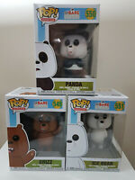Funko Pop We Bare Bear, Set of 3 - Brand New, In-Hand!