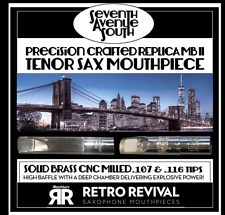 "RETRO-REVIVAL""SEVENTH AVE SO."" REPLICA GUARDALA MB II TENOR SAX MPC .116 BLEM"