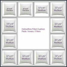 """Hollowfibre Cushion Inner Insert Fillers 12"""",14"""",16"""",18"""",20"""",22"""",24"""",26"""",28"""",30"""""""