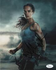 Alicia Vikander Tomb Raider Autographed Signed 8x10 Photo JSA COA #7