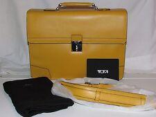 Tumi 93231 Astor Dorilton Slim Flap Womens Briefcase Yellow Leather Laptop Bag