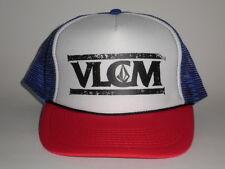 Volcom OTTO TRUCKER Mesh Snapback Hat Red Blue OSFA NEW Cap Skate Surf Snow Bike
