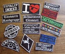 Pacchetto di patch - 5 diversi ricamate-Tatuaggio proverbi per la tonaca-Parco