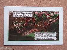 R&L Postcard: Happy Birthday Loving Greetings Sister Cheery Blossom Tree